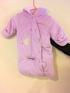 58864041e Carter's Child of Mine Baby Girls Purple Bunny Floral Plush PRAM ...