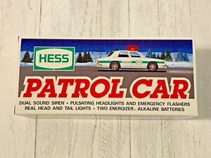 Vintage 1993 Hess Patrol Car Police Car Lights & Sirens NOS NRFB