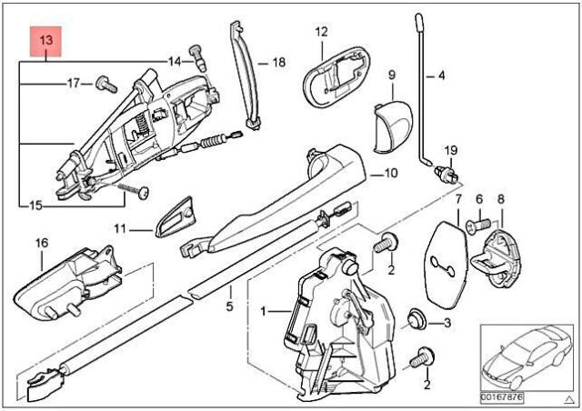 E BMW E46 Sedan Touring Front Right Door Handle Carrier Bracket 51217044840  for sale online | eBayeBay