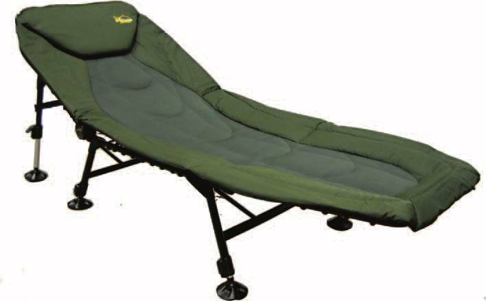 Kkarp SDRAIA A 6 PIEDI  CARP FISHING  Cayenne Bedchair 6 legs KKARP IL TOP