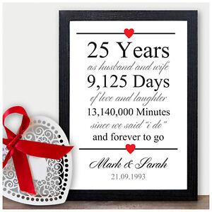 25th Wedding Anniversary Gift Silver