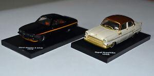 Opel Set aus 2 Modellen- Kapitän und Manta A - Maßstab 1:87 von Atlas