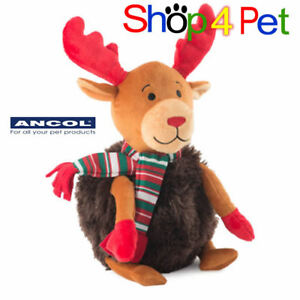 SQUEAKY-DOG-TOY-ANCOL-MERRY-CHRISTMAS-RUDOLF-SOFT-STUFFED-GREAT-XMAS-PRESENT-PET