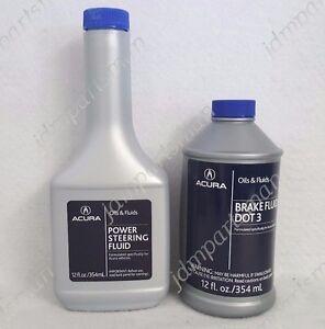 Details about Genuine Acura Power Steering Fluid (1x) Bottle and Brake  Fluid Dot 3 (1x) Bottle