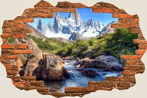 3D-Hole-in-Wall-Enchanted-River-Mountain-View-Wall-Stickers-Film-Wallpaper-391