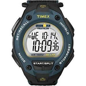 Timex-Oversized-Men-039-s-Ironman-T5K413-30-Black-Blue-Color-Nylon-Digital-Watch