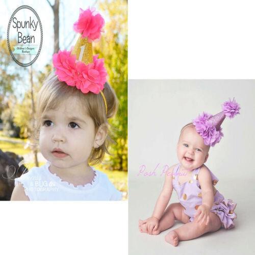 8x13cm coloridas Corona Princesa Diadema Sombrero Bebé Niña Niño niños primer cumpleaños
