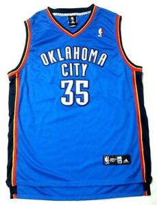 reputable site df7dd c7b8c Details about NBA Jersey Oklahoma Thunder 35 Kevin Durant OKC Authentic  Adidas Embroidered