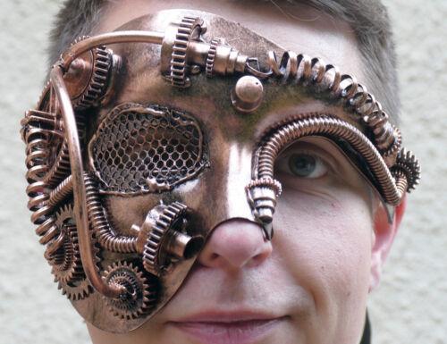 festival,maske.augenmaske,steampunk,halbmaske,goldfarben,fantasy,sci-fi,retro