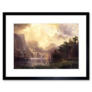 Bierstadt Among Sierra Nevada California Painting Large Canvas Art Print