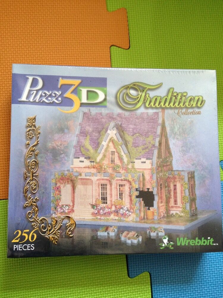 Puzz 3D Tradition Collection New+Sealed 8 Magnolia Road Wrebbit 256 Piece Jigsaw