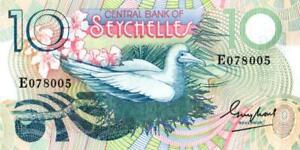 01 Seychelles P28 10 Rupees 1983 Unc