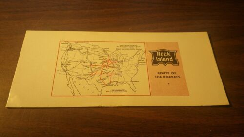 1950's ROCK ISLAND CRI&P ROUTE OF THE ROCKETS PASSENGER TRAINS INK BLOTTER