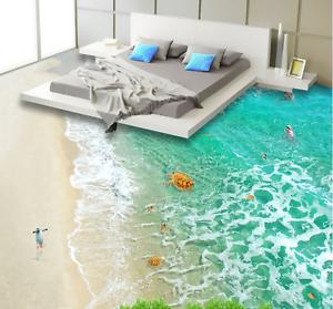 Details About 3d Sandy Beach Bear 7 Floor Wallpaper Murals Wall Print 5d Aj Wallpaper Uk Lemon