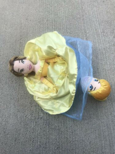 Disney Parks Princess Topsy Turvy Flip 2 in 1 Plush Doll Cinderella /& Belle