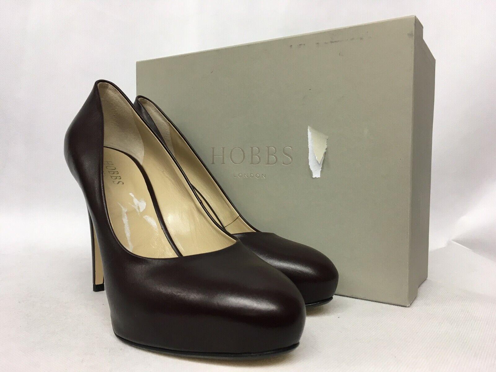 Hobbs Suzie Cour Vitello Bourgogne Chaussures. diverses tailles.