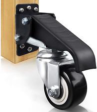 Set Of 4 Workbench Caster Kit Heavy Duty Retractable Work Bench Steel Wheels New