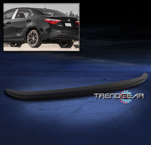ABS Plastic Gloss Black Rear Trunk Lip Spoiler Wing For Toyota Corolla 2014-2017