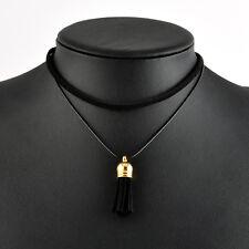Vintage Choker Bib Chain Tassel Pendant Collar Gothic Necklace Women Jewelry