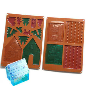 Silicone-Decoration-Tool-Silicone-Mould-Material-Bright-Art-Tool-House-Mold-HO