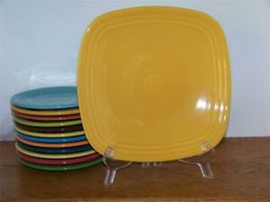 Fiesta-MARIGOLD-9-034-Square-Luncheon-Plate-Discontinued-Color