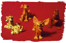 Puppy Figurines Dogs Cute Funny Collectible Decorative Set 4