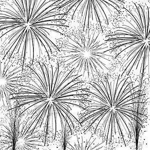 Fireworks Cover-a-Card Unmounted Cling Rubber Stamp CC129