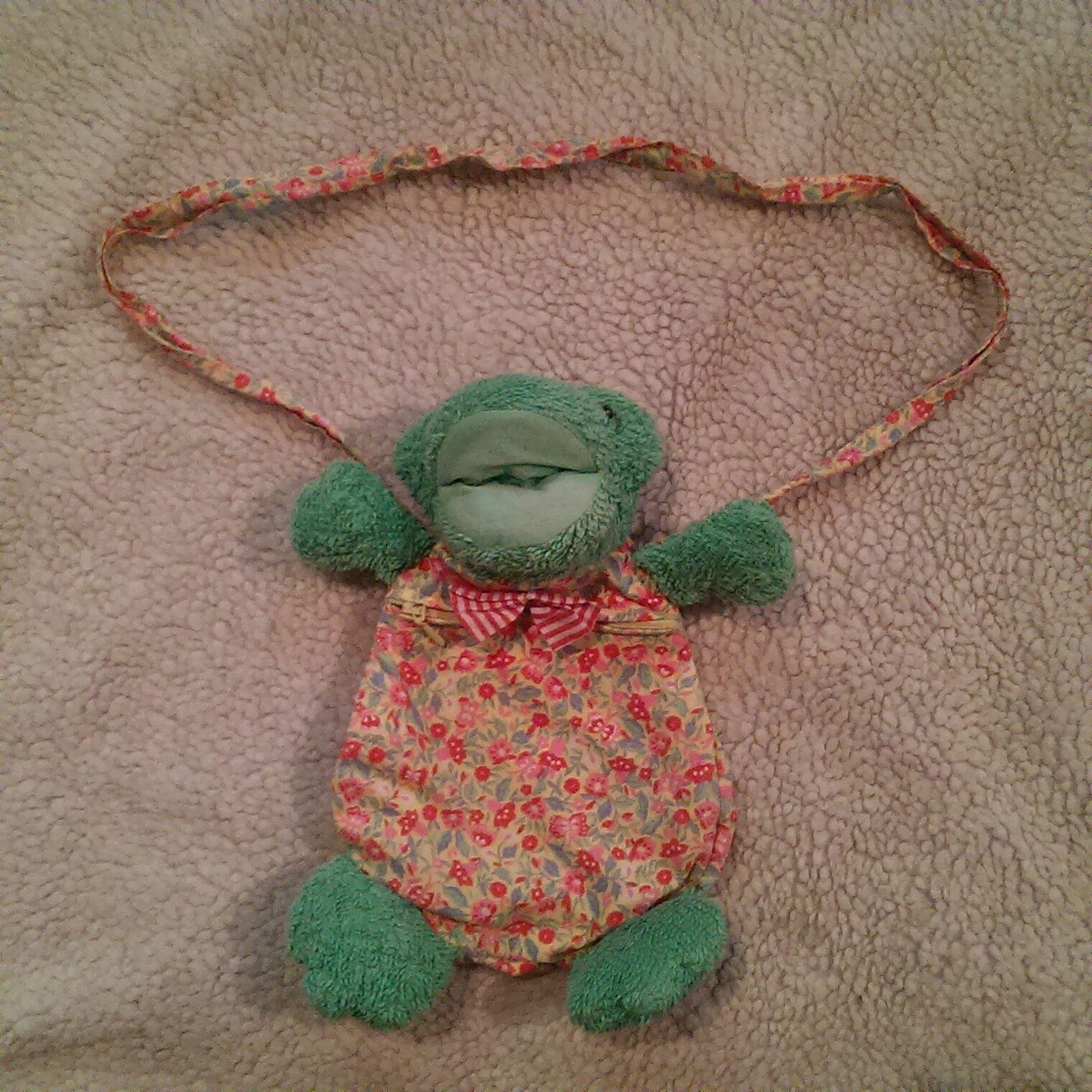 Sigikid frosch kindergartentasche blumen schmetterlinge grün frottee frog