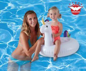 Kinderbadespaß Badeinsel Einhorn Unicorn Badetier Schwimmring Reittier Kinder