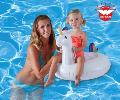 Badeinsel Einhorn Unicorn Badetier Schwimmring Reittier Kinder Kinderbadespaß