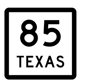 Texas State Highway 85 Sticker Decal R2386 Highway Sign