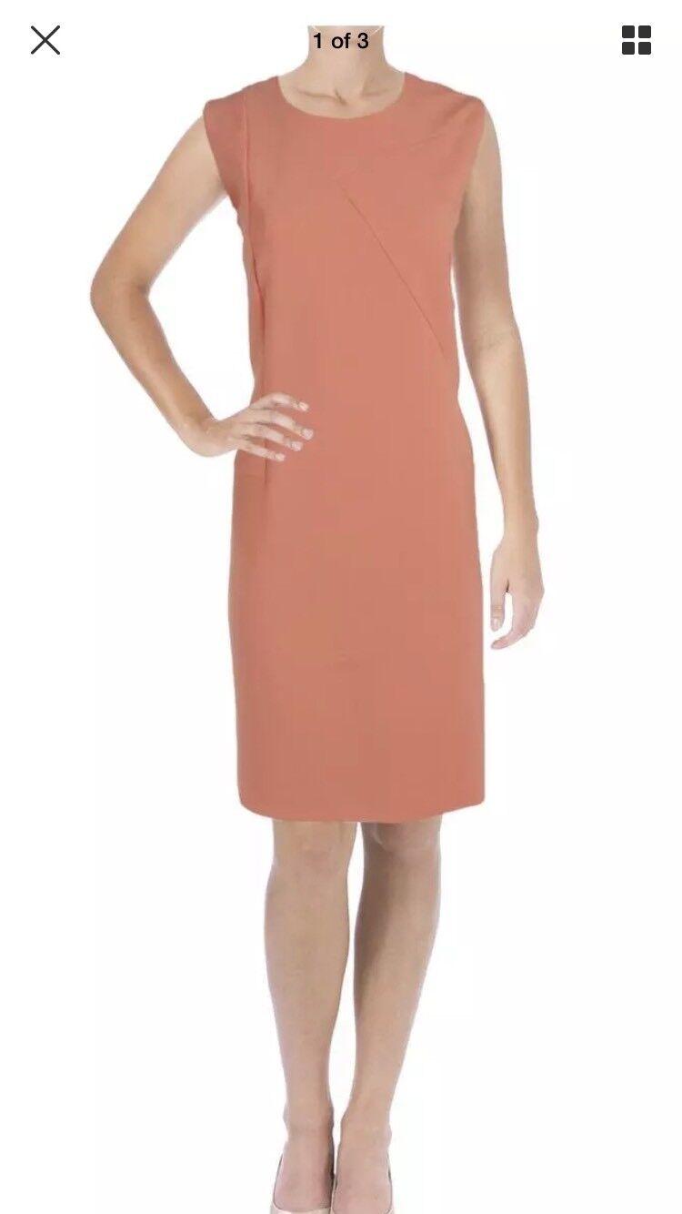 BOSS Hugo Boss Femme demisana rose bijou cou porter au travail robe 12 Neuf Avec Étiquettes 545