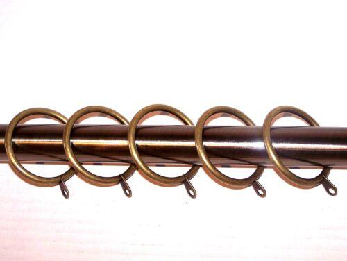 28mm tringle à rideau en métal anneaux avec fixe cerceau laiton antique gold Qualité 25mm