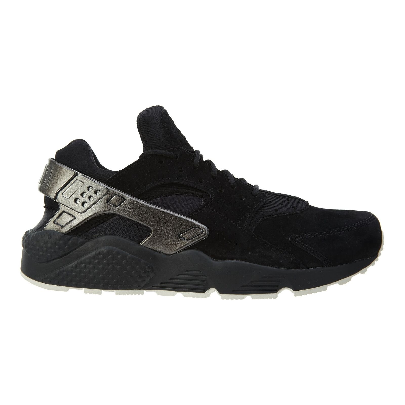 Nike Air Huarache Run Premium Mens 704830-014 Black Sail Running shoes Size 9