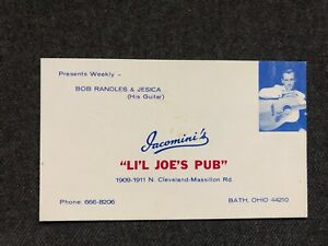 Vintage-IACOMINI-039-S-Li-039-l-Joe-039-s-Pun-Business-Card-Bath-Oh-BOB-RANDLE-amp-JESICA