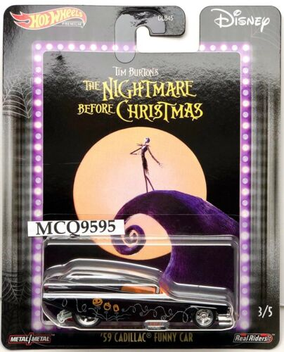 2020 HOT WHEELS PREMIUM /'59 CADILLAC FUNNY CAR THE NIGHTMARE BEFORE CHRISTMAS
