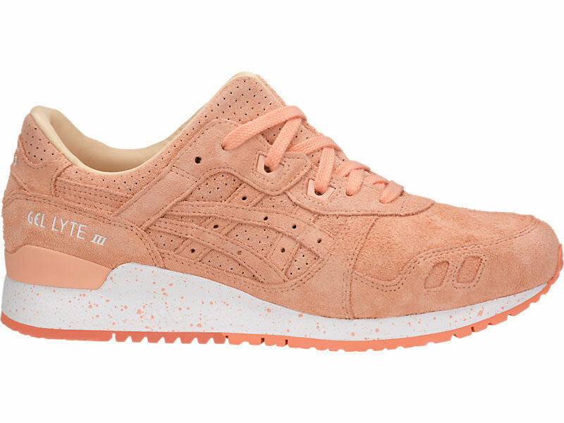 MEN'S ASICS TIGER GEL-LYTE III NEON RUNNING SHOES APRICOT ICE *NEW*