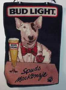 RARE-VINTAGE-SPUDS-MACKENZIE-BUD-LIGHT-UNUSED-TUXEDO-DOOR-PLACE-MAT
