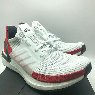 new concept 8adfa 15066 *NEW* MENS ADIDAS ULTRABOOST 19 WHITE / RED (EF1341), Sz 8-13, 100%  AUTHENTIC!! | eBay