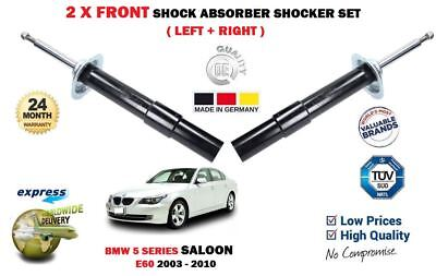 FOR BMW 5 E60 2003-2010 520 523 525 530 535 2x FRONT SHOCK SHOCKERS ABSORBER SET