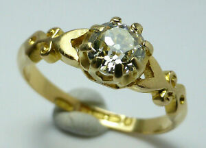 New-Design-14K-Yellow-Gold-Finish-Diamond-Solitaire-Engagement-Wedding-Ring-2ct