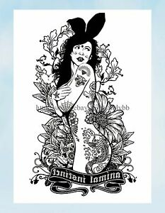 Flower Sexy Women Large 8 25 Amp Amp Quot Half Sleeve Tattoo Sticker Tattoos Ebay