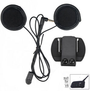 helm kopfh rer weich headset clip f r v6 bluetooth motorrad gegensprechanlage ebay. Black Bedroom Furniture Sets. Home Design Ideas