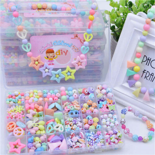 DIY Handmade Beaded Toy Kids Crafts Accessory Set Children Creative Girl Toys