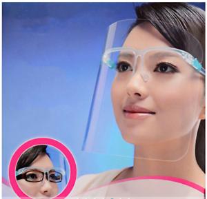 2Pcs Transparent adjustable full face mask plastic anti-fog protective mask m08