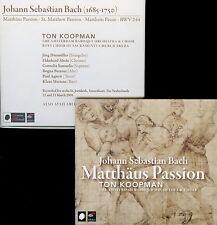 BACH  matthaus passion  /  DURMULLER AGNEW MERTENS , KOOPMAN