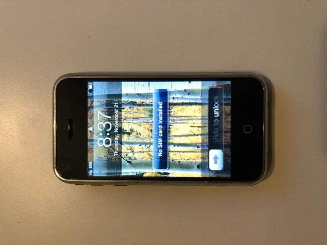 Apple iPhone 2G 1st Generation - 4GB - Black Unlocked Collector Vintage