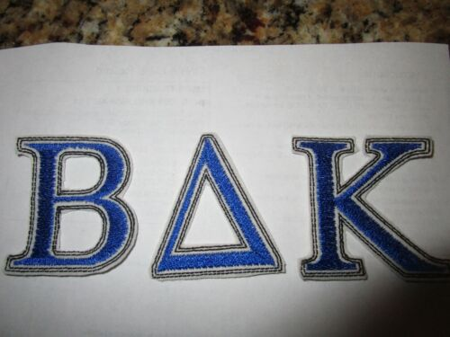 Greek Letters 3 letters per Iron on embroidered applique-5 in