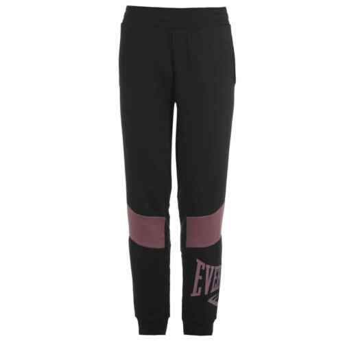 Da Donna Everlast Blocco Pantaloni sportivi in Pile Jogging Bottoms Zip Nuovo