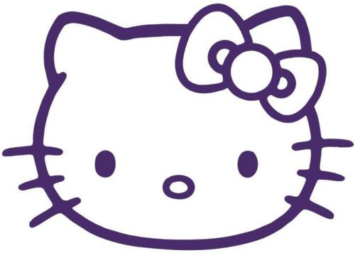 Hello Kitty Cat Face Girly Window Vinyl Car or Truck Decal Sticker Very Cute